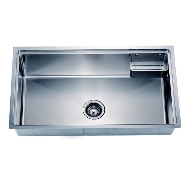 DAWN SRU311710 33 INCH UNDERMOUNT SMALL CORNER RADIUS SINGLE BOWL SINK WITH BASKET