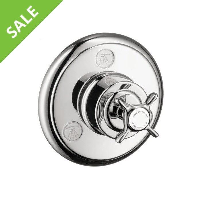 SALE! Hansgrohe 16833001 Axor Montreaux Quattro/Trio Shower Faucet Diverter in Chrome