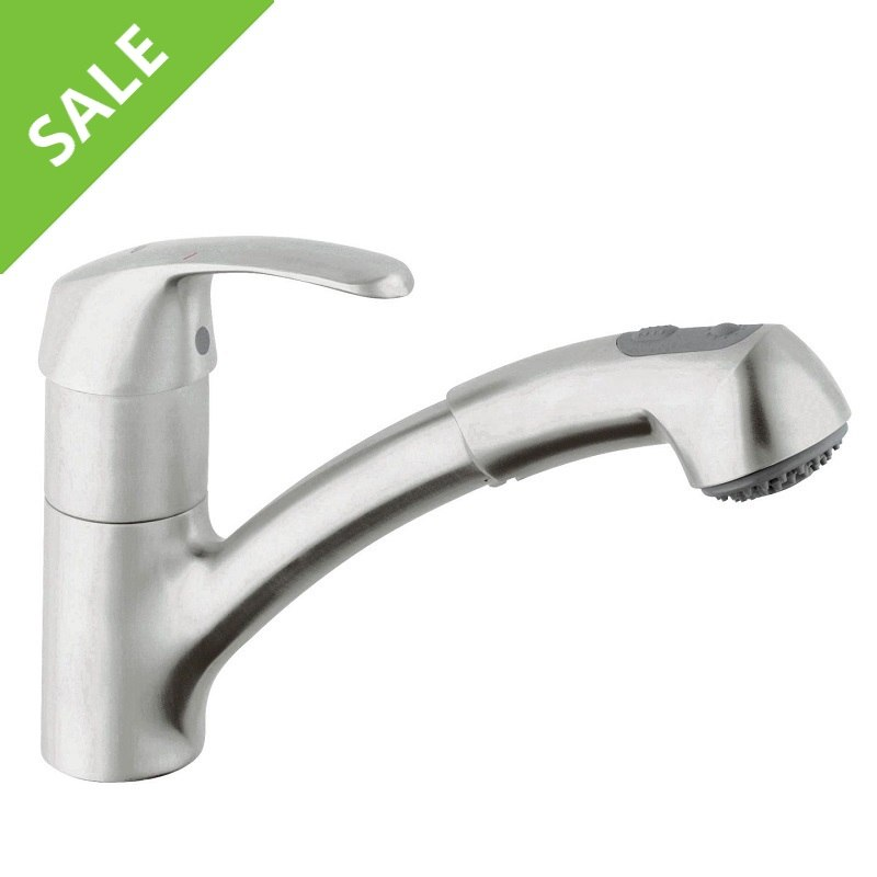 SALE! Grohe 32 999 SD0 Alira Dual Spray Pull-Out Kitchen Faucet in RealSteel