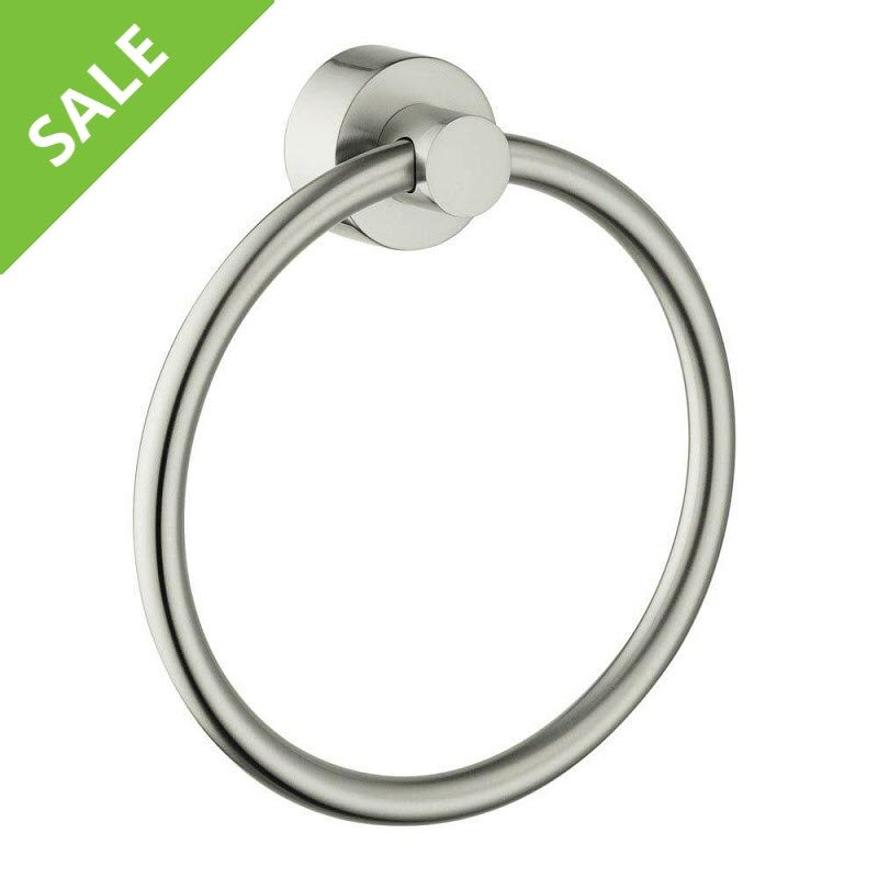 SALE! HANSGROHE 41521820 AXOR UNO TOWEL RING IN BRUSHED NICKEL