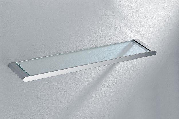 DAWN 96019011C 9601 SERIES WALL MOUNTED BATHROOM GLASS SHELF IN CHROME