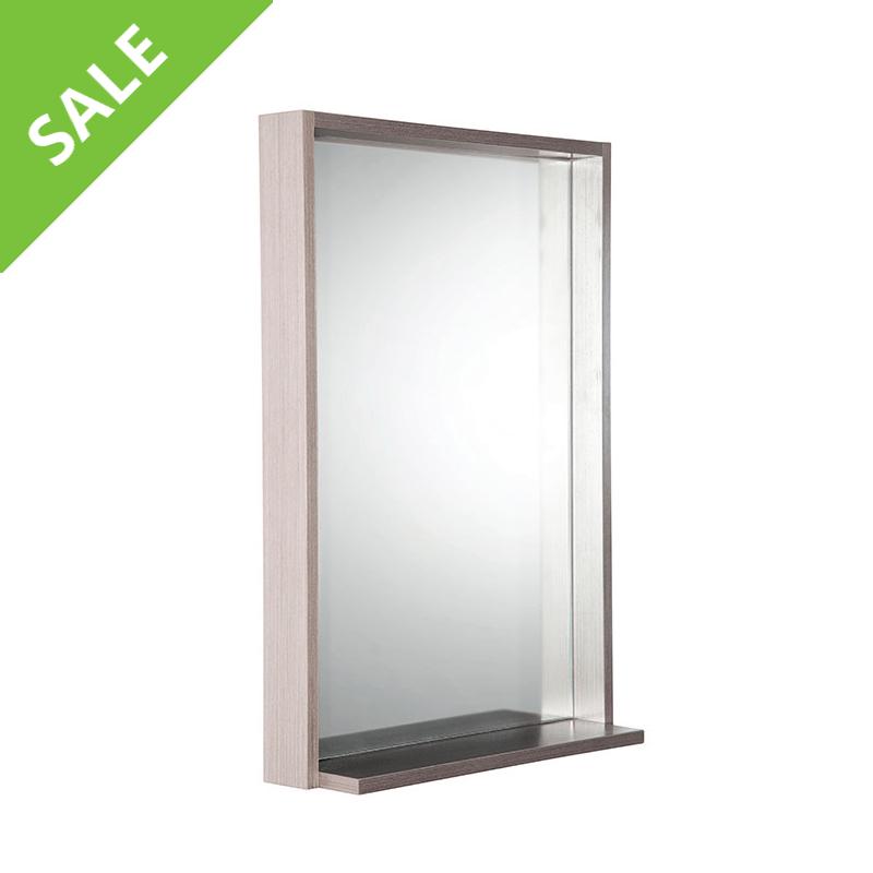 SALE! Fresca FMR8125GO Allier 22 Inch Gray Oak Mirror with Shelf