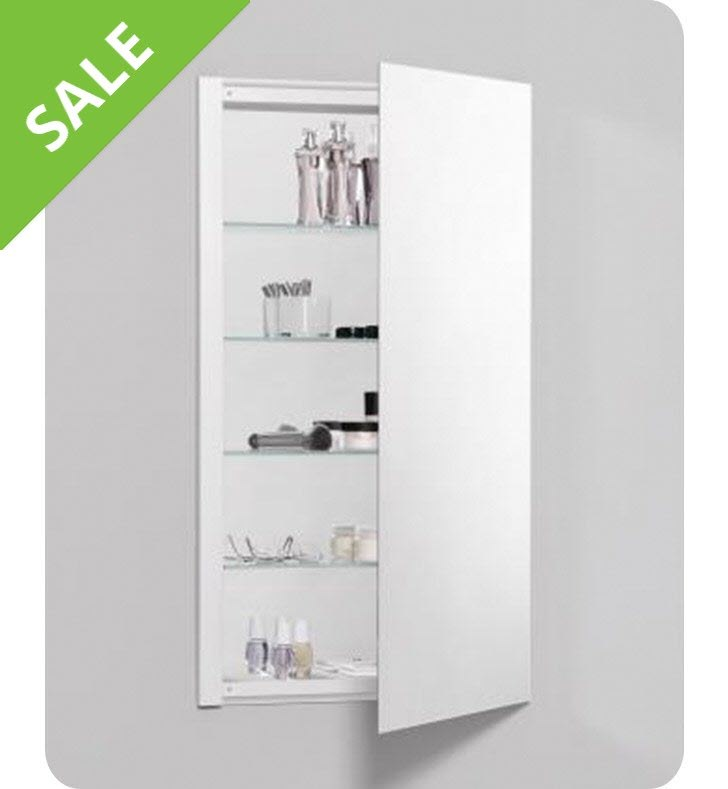 SALE! Robern RC2036D4FP1 R³ Series 20 Inch Mirrored Bathroom Cabinet, Plain Edge