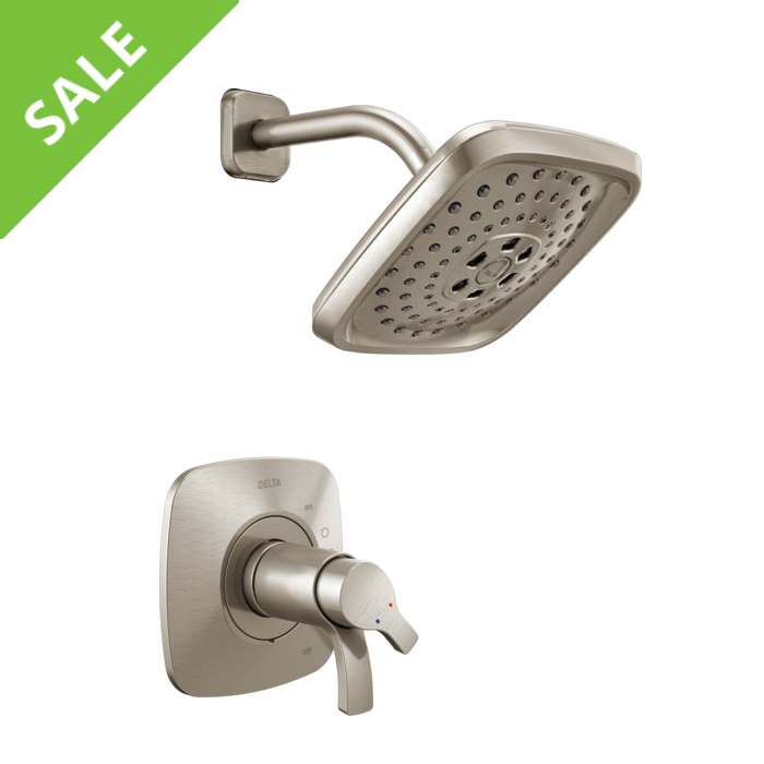 SALE! DELTA T17252-SS TESLA 17 SERIES MC H2OKINETIC SHOWER ONLY TRIM IN STAINLESS STEEL