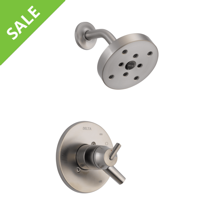 SALE! DELTA T17259-SS 17 SERIES MC SHOWER TRIM IN STAINLESS STEEL