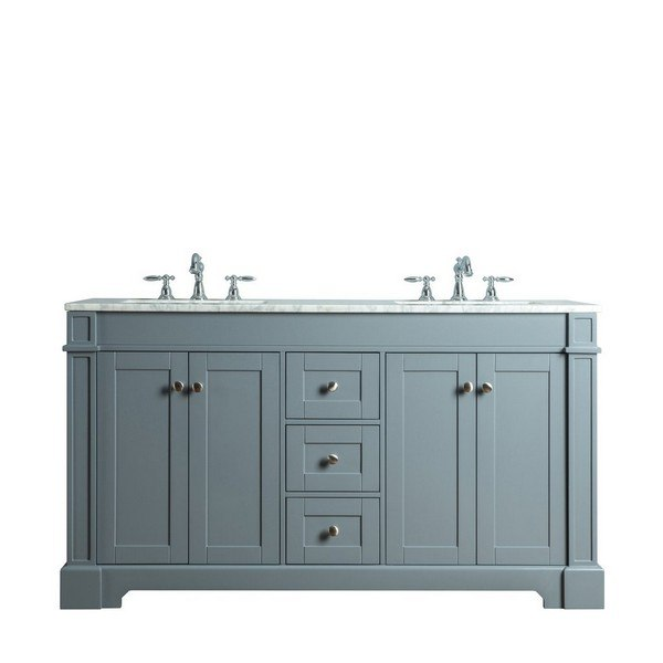 Seine 60 Inch Grey Single Sink Bathroom