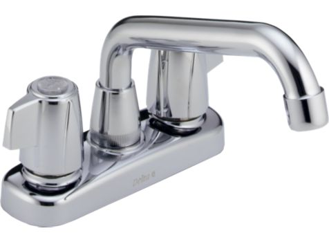 Delta 2123LF Classic Two Handle Laundry Faucet - Chrome