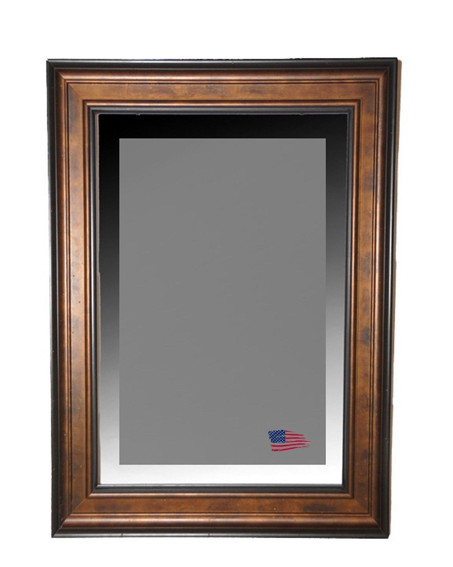 Rayne Mirrors R0015LV 44.75 x 38.75 Inch Bronze and Black Wall Mirror