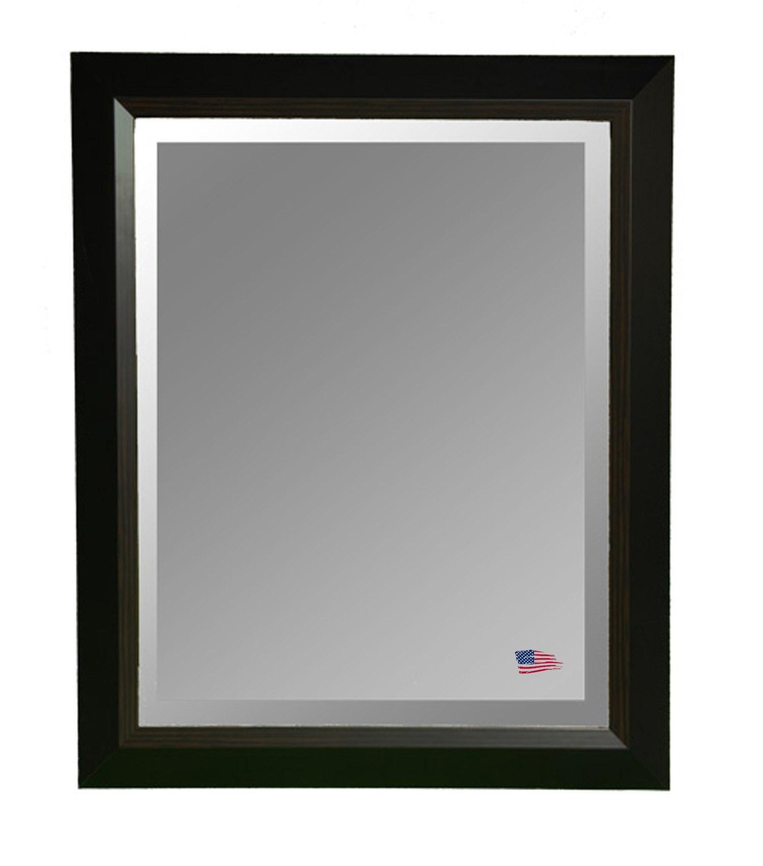 Rayne Mirrors R0011LV 41.75 x 35.75 Inch Brown Linning Wall Mirror
