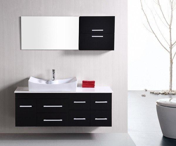 Design Element Dec1101 Springfield 53 Inch Single Sink Wall Mount Vanity In Espresso