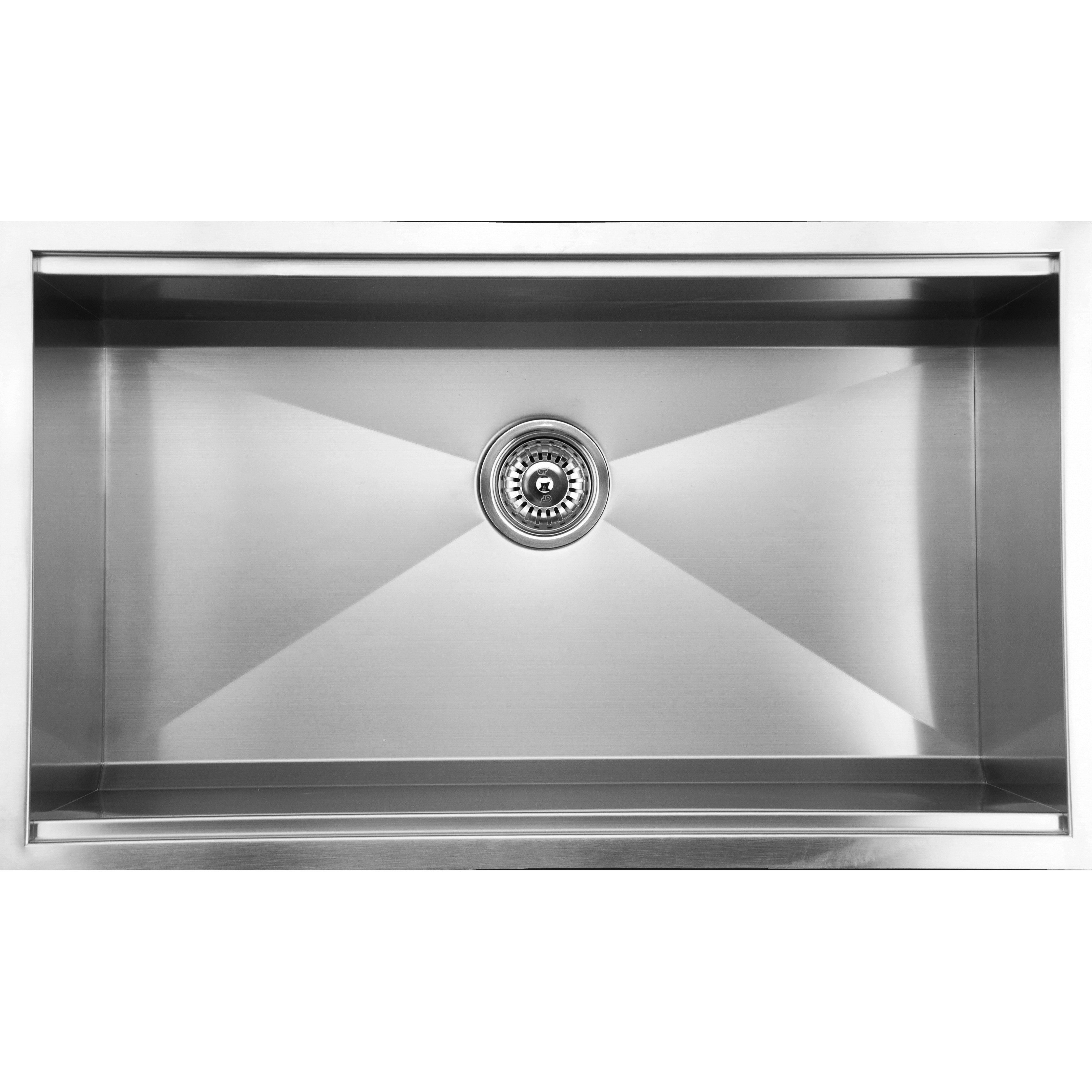 Ukinox DSL813 Zero Radius 32 Inch Single Basin Stainless Steel ...