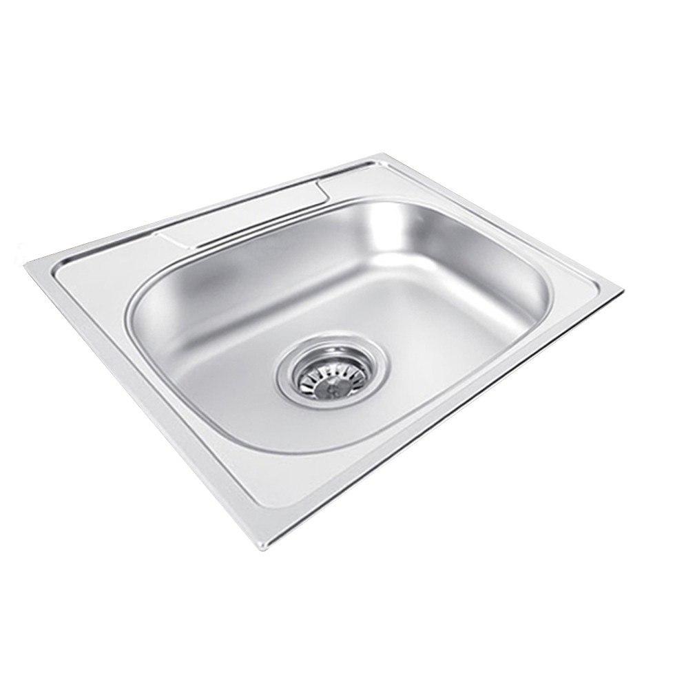 Ukinox GA480.480 Single Basin 18.875 Inch Stainless Steel Drop-in Kitchen Sink