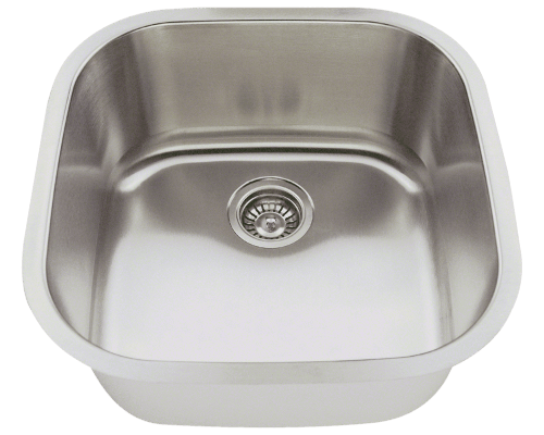 Polaris P0202 Stainless Steel Sink 20 Inch Brushed Satin
