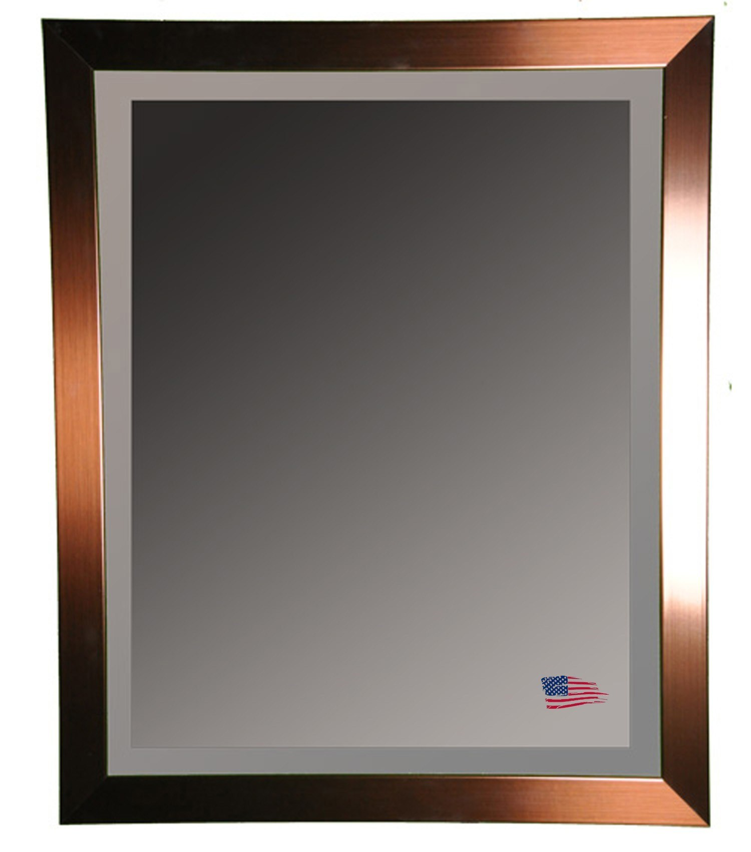 Rayne Mirrors R0020ML2 31.5 x 35.5 Inch Shiny Bronze Wall Mirror