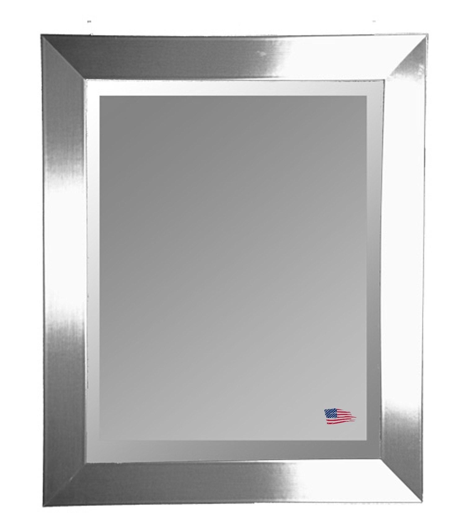 Rayne Mirrors R003L 39.5 x 45.5 Inch Silver Wide Wall Mirror