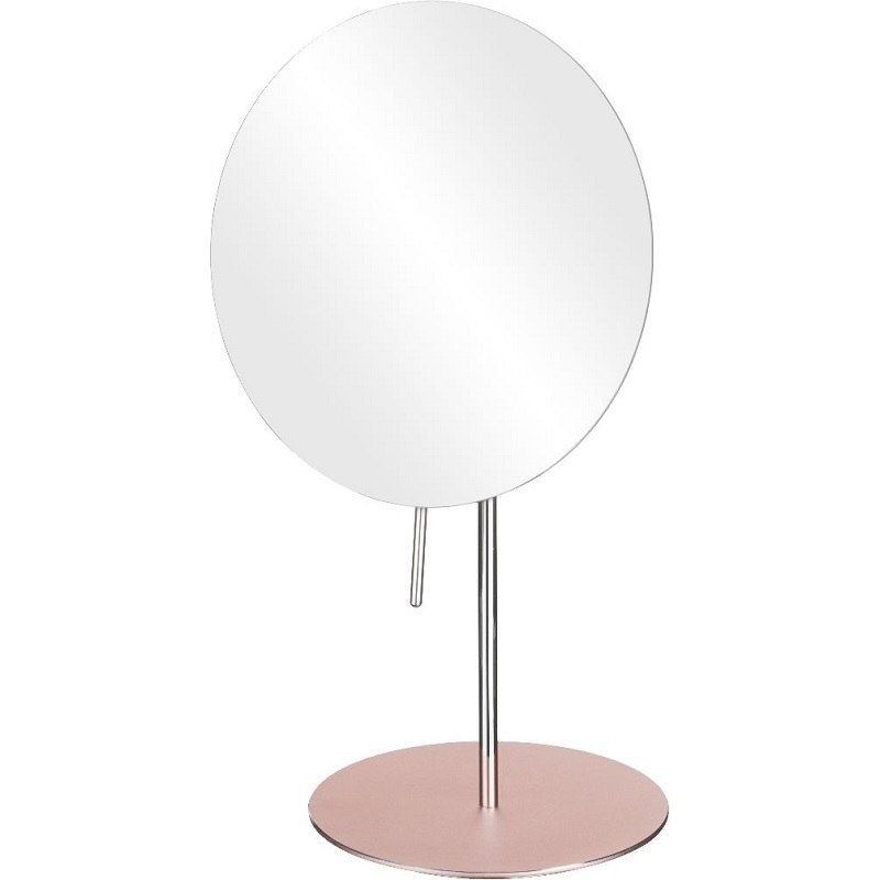 APTATIONS 82353 MIRROR IMAGE 8 INCH FREE STANDING SINGLE SIDED MAKEUP MIRROR IN BLUSH