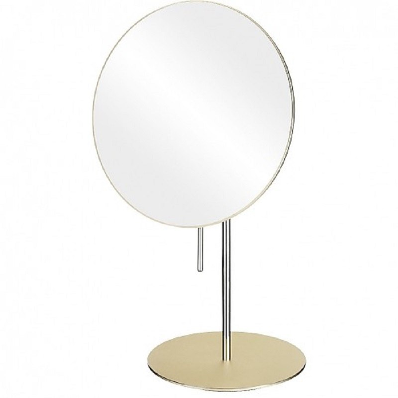 APTATIONS 82363 MIRROR IMAGE 8 INCH FREE STANDING SINGLE SIDED MAKEUP MIRROR IN CHAMPAGNE