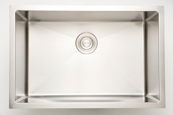 AMERICAN IMAGINATIONS AI-27411 20 INCH UNDERMOUNT SINGLE BOWL 18 GAUGE STAINLESS STEEL KITCHEN SINK IN CHROME
