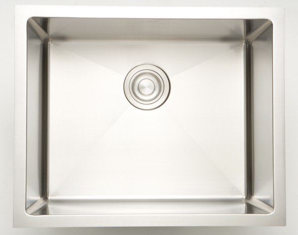 AMERICAN IMAGINATIONS AI-27495 16 INCH UNDERMOUNT SINGLE BOWL 18 GAUGE STAINLESS STEEL KITCHEN SINK IN CHROME