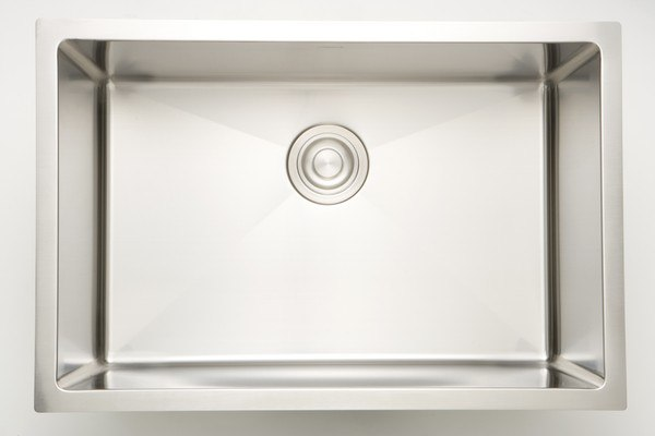 AMERICAN IMAGINATIONS AI-27436 25 INCH UNDERMOUNT SINGLE BOWL 16 GAUGE STAINLESS STEEL KITCHEN SINK IN CHROME