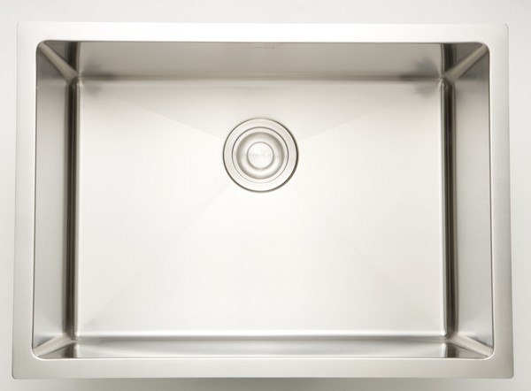 AMERICAN IMAGINATIONS AI-27446 20 INCH UNDERMOUNT SINGLE BOWL 16 GAUGE STAINLESS STEEL KITCHEN SINK IN CHROME