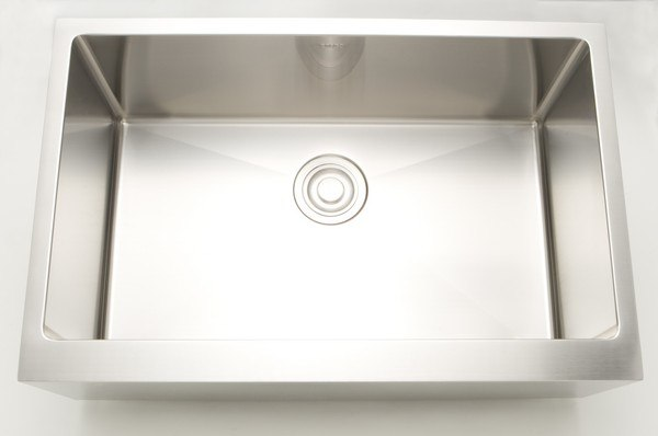 AMERICAN IMAGINATIONS AI-27463 33 INCH UNDERMOUNT SINGLE BOWL 16 GAUGE STAINLESS STEEL KITCHEN SINK IN CHROME