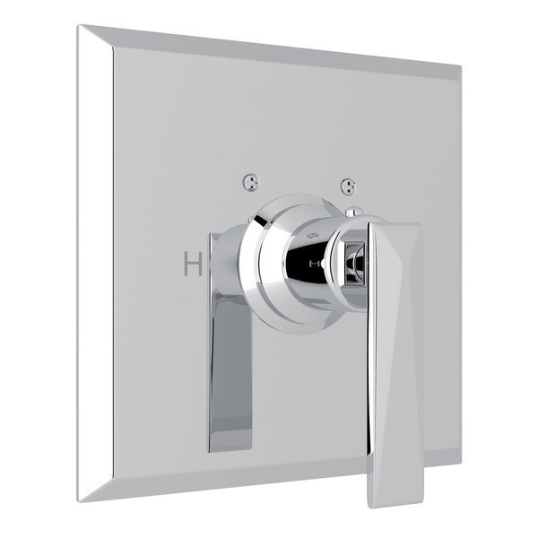 ROHL A4014LV VINCENT THERMOSTATIC TRIM PLATE WITHOUT VOLUME CONTROL, METAL LEVER