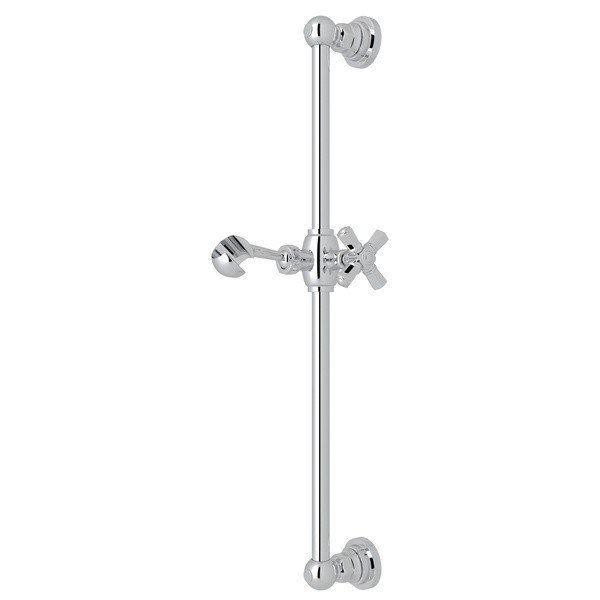 ROHL A8073XM SAN GIOVANNI 21-3/8 INCH SLIDE BAR WITH CROSS HANDLE