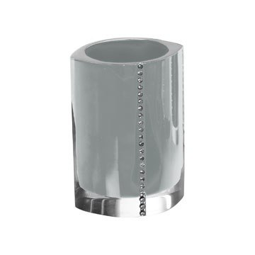 GEDY 7498 DIAMONDS TOOTHBRUSH HOLDER WITH CRYSTALS