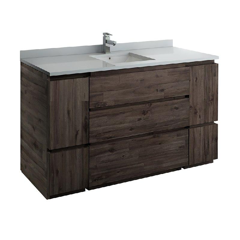 Fresca Fcb31 123612aca Fc Formosa 59 Inch Floor Standing Single Sink Modern Bathroom Cabinet In Acacia