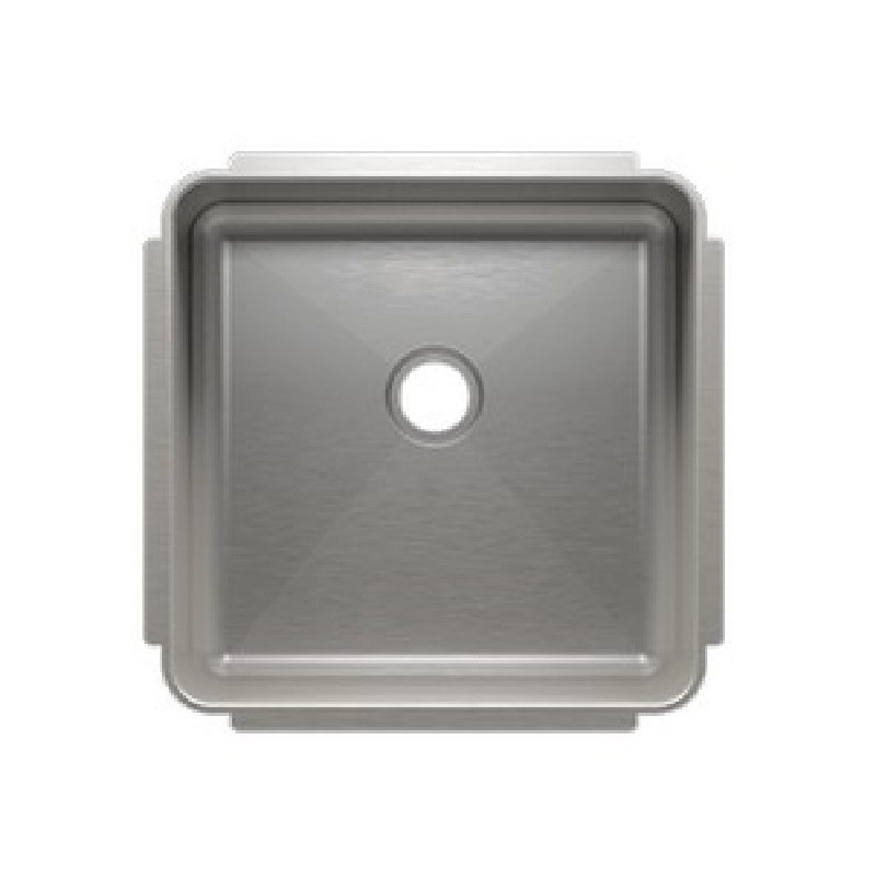 JULIEN 003227 CLASSIC 16 1/2 * 16 1/2 * 7 INCH UNDERMOUNT STAINLESS STEEL BAR SINK