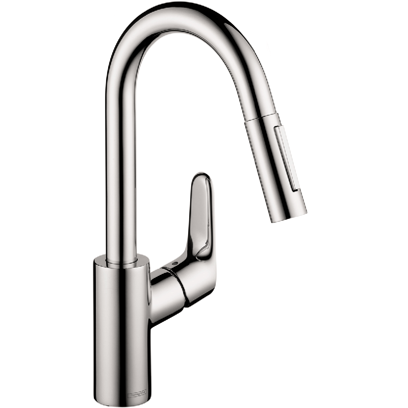 HANSGROHE 04506 FOCUS 2-SPRAY HIGHARC PULL-DOWN PREP KITCHEN FAUCET