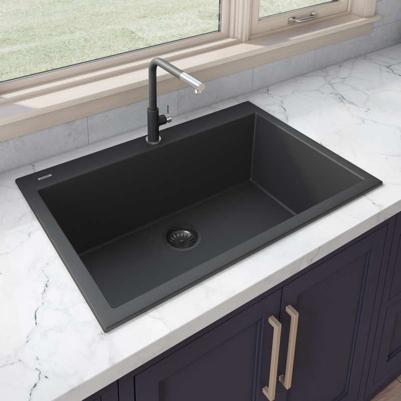Stylish S 320t Spinel 22 X 18 Inch Dual Mount Single Bowl Stainless Steel Laundry Sink With Strainer S 320t S320t