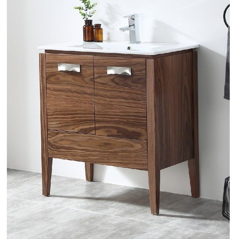 Chans Furniture Ca 405nt30 Zi 30 Inch Tennant Brand Colle Bathroom Sink Vanity In Walnut
