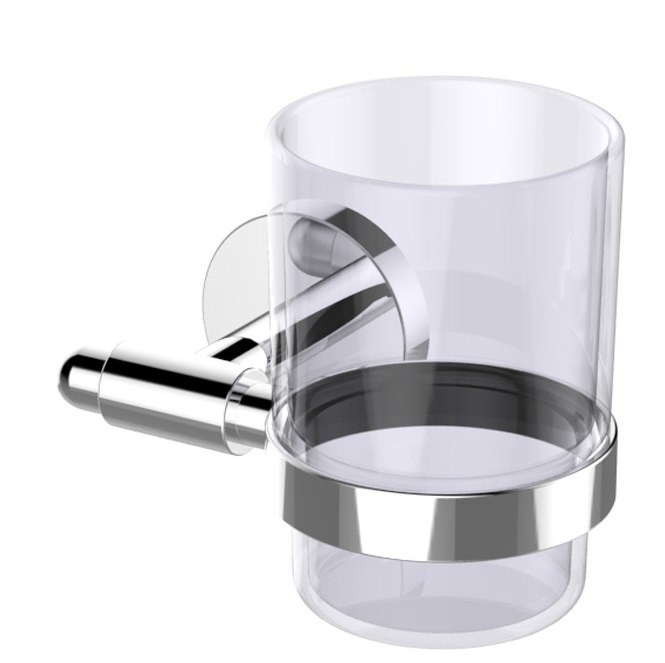 EVIVA EVAC50 CLEAR GLASSY TOOTH BRUSH HOLDER WALL MOUNT