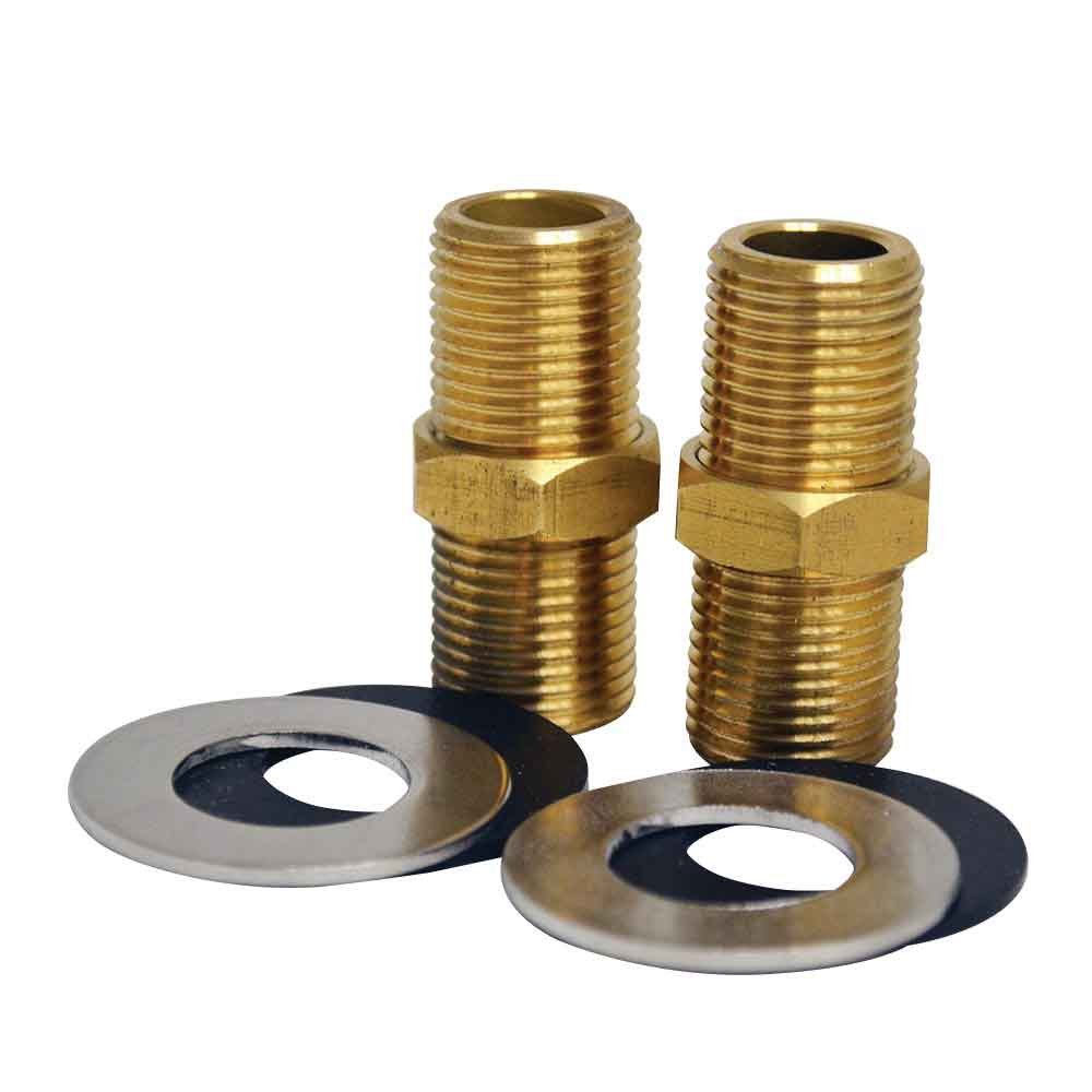 Whitehaus WHFS00098-10 2 Inch Brass Nipple for Whitehaus Utility Faucet Installation