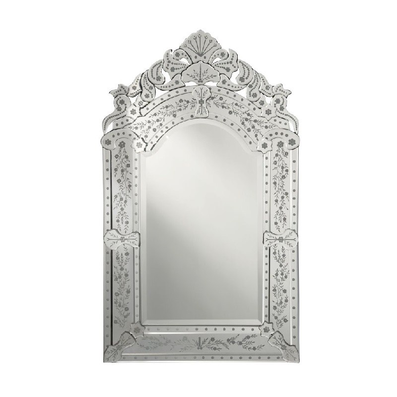 Chans Furniture Ym 701 2541 Lanzara 25 Inch Arched Framed Venetian Style Wall Mount Bathroom Vanity Mirror
