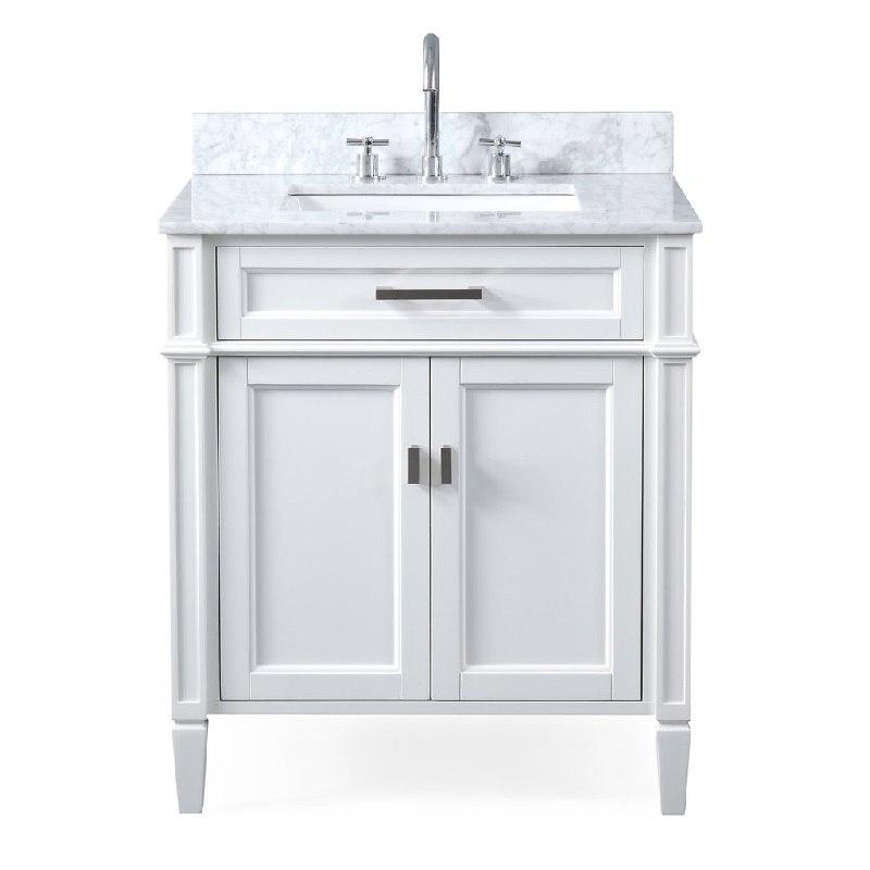 Chans Furniture Zk 1808 V30w 30 Inch Tennant Brand Durand Bathroom Vanity In White