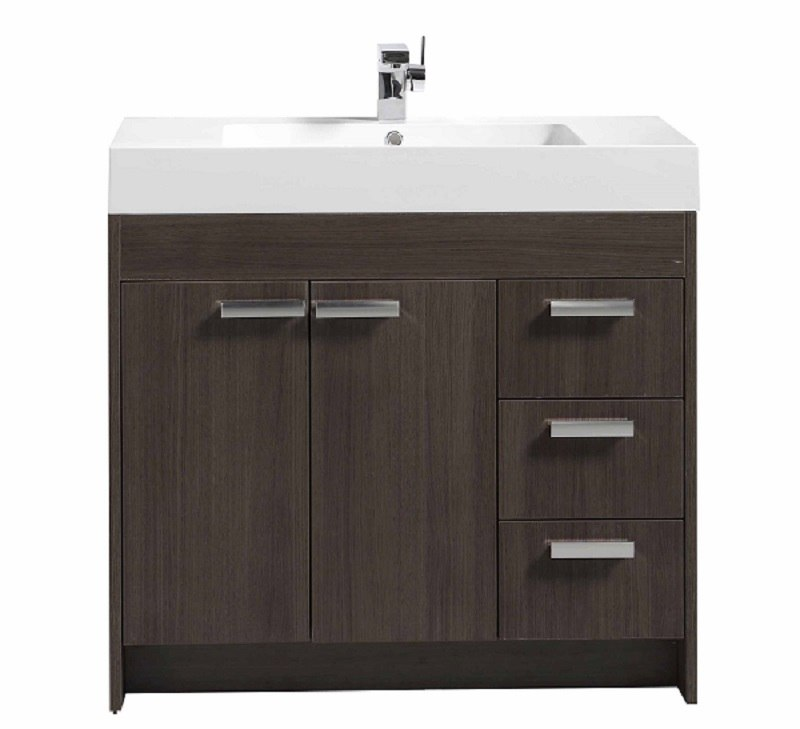 EVIVA EVVN900-8-36 LUGANO 36 INCH MODERN BATHROOM VANITY WITH WHITE INTEGRATED ACRYLIC SINK