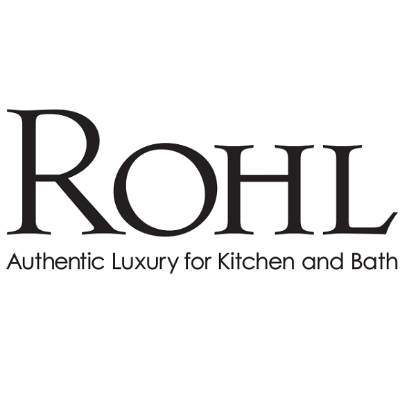 ROHL U.3159X DECO THREE HOLE DECK MOUNTED TUB FILLER AND 9 INCH SPOUT, CROSS HANDLES