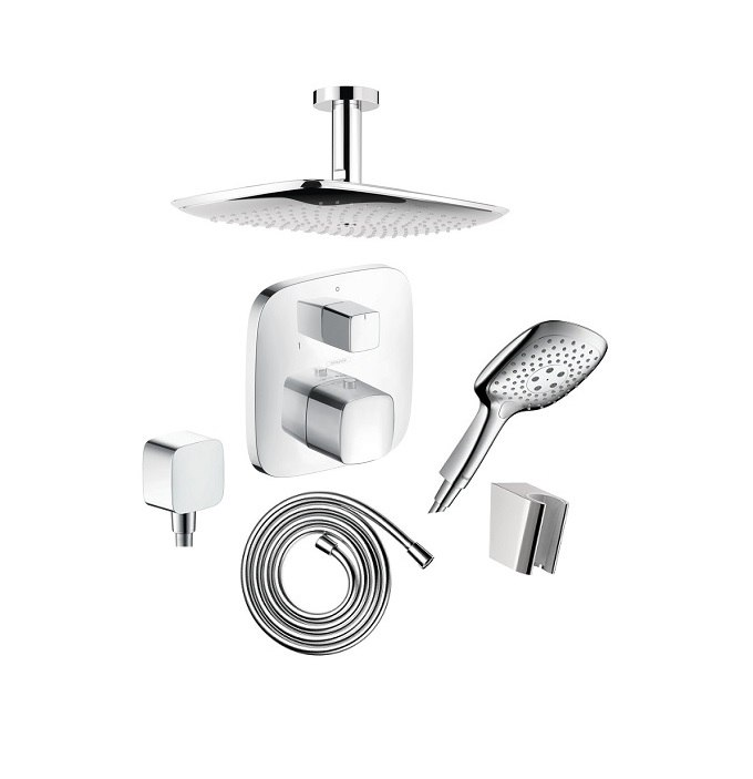 Hansgrohe PuraVida 2 Function Shower Combination With Ceiling Mount  15771001 15771401 15771 001 15771 401 27390001.