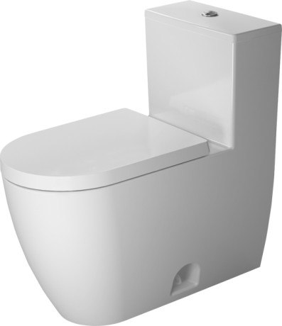 Duravit 217301 ME by Starck One-Piece Rimless Elongated Toilet, Less Seat