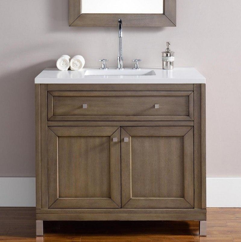 James Martin 305 V36 Www Chicago 36 Inch Single Vanity In Whitewashed Walnut 305 V36 Www 305v36www