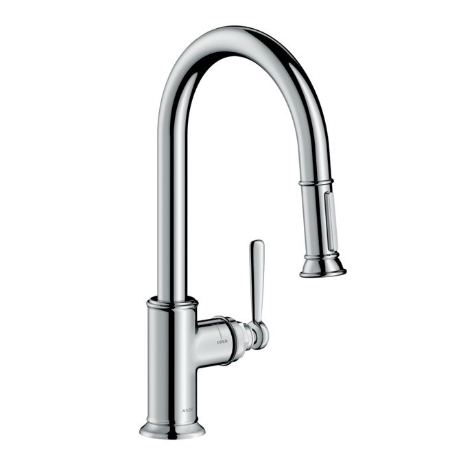 HANSGROHE 16581 AXOR MONTREUX 2-SPRAY HIGHARC PULL-DOWN KITCHEN FAUCET
