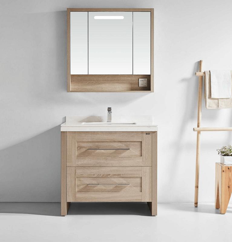 Flawless Py1809a Oak Malibu 36 Inch Single Sink Bathroom Vanity Set In Oak