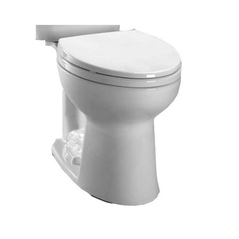 toto c244ef entrada 128 gpf elongated toilet bowl only