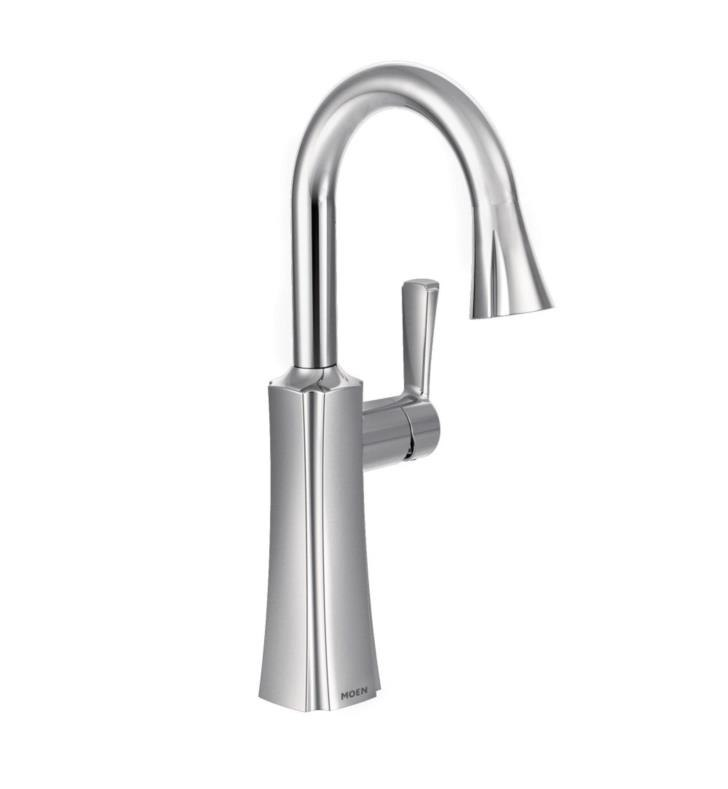 MOEN S62608 ETCH SINGLE HANDLE DECK MOUNTED HIGH ARC PULLDOWN BAR FAUCET