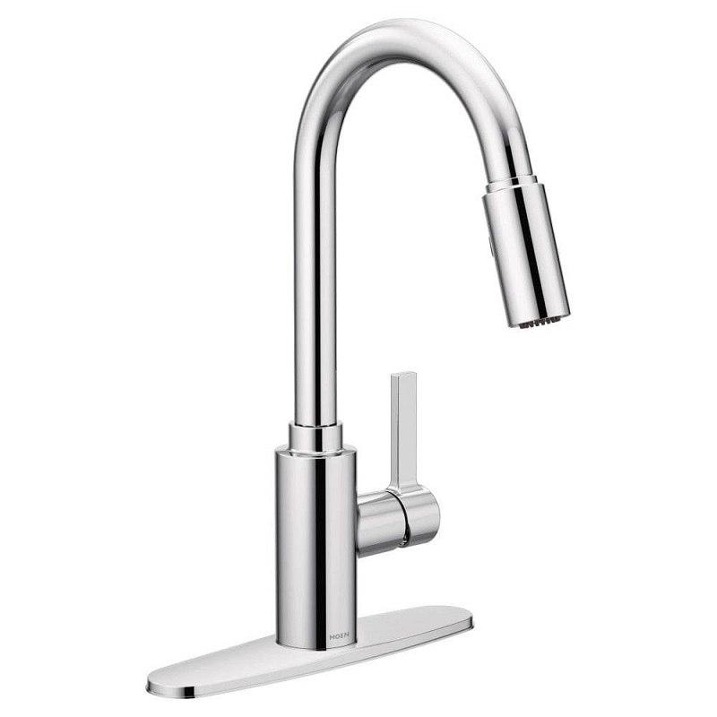 Moen M7882 Genta One Handle High Arc Kitchen Faucet