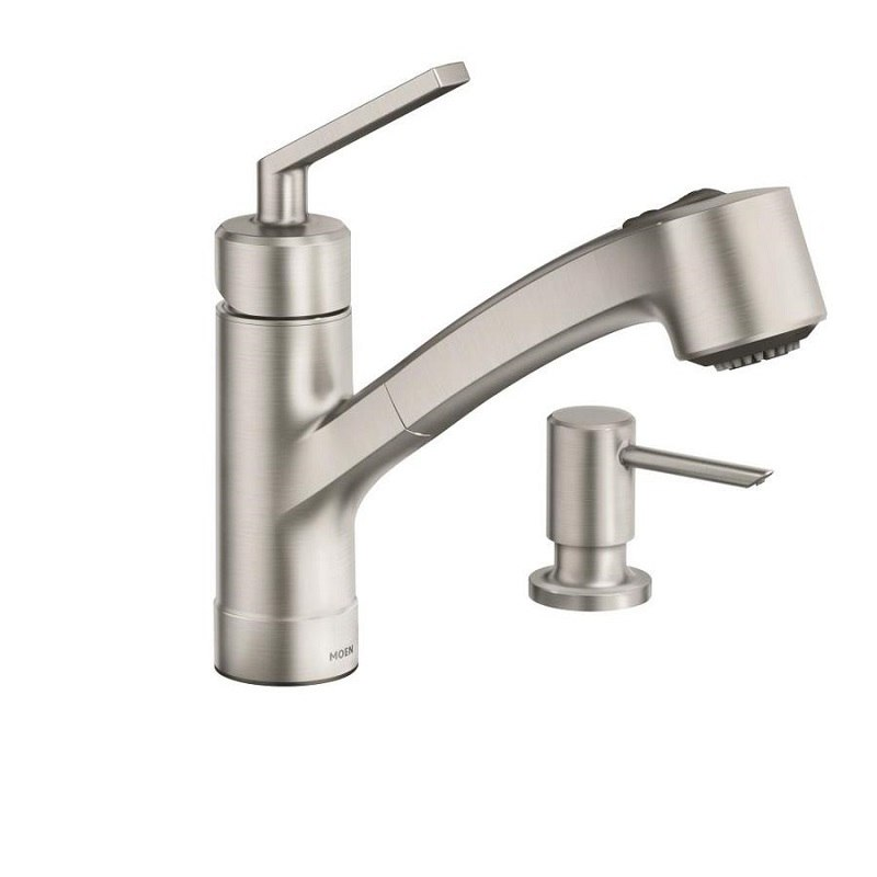 Moen 87454SRS Shaye Spot Resist Stainless One-Handle Pullout Kitchen Faucet