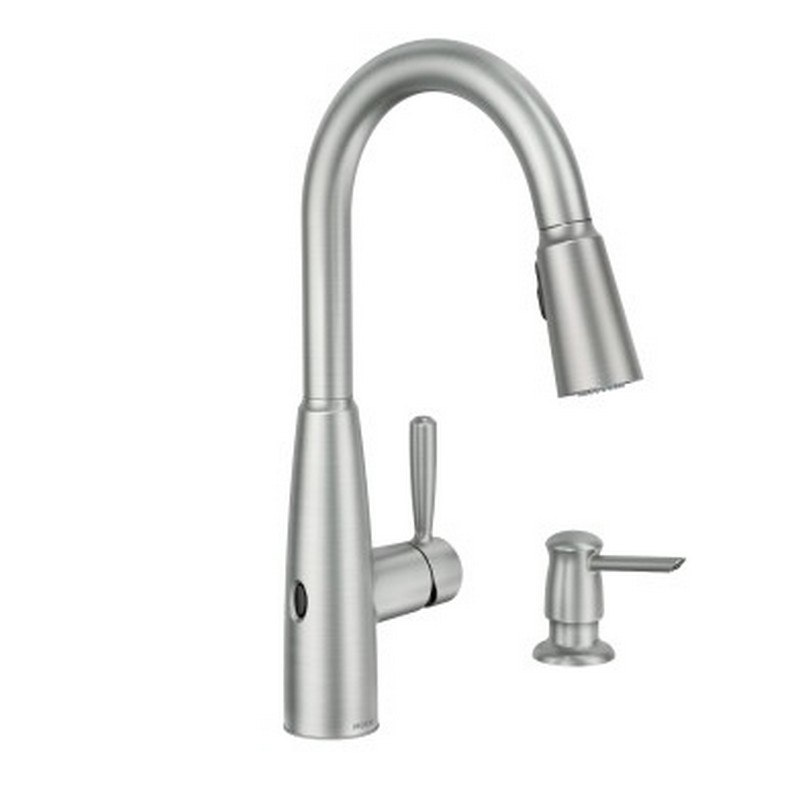 Moen 87696EWSRS Sperry MotionSense Wave One-Handle Pulldown Kitchen Faucet  in Spot Resist Stainless